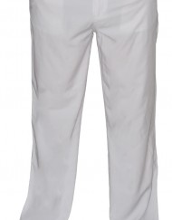 Men Trousers - White - Front - 1024
